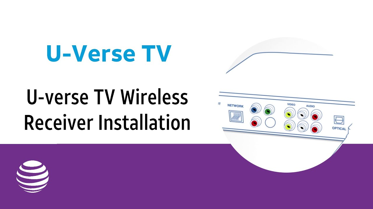 Atampt U Verse Connection Diagram Suburban Rv Furnace Thermostat Wiring Tv Wireless Receiver Installation At T Youtube