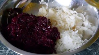 Салат из свеклы на скорую руку ))