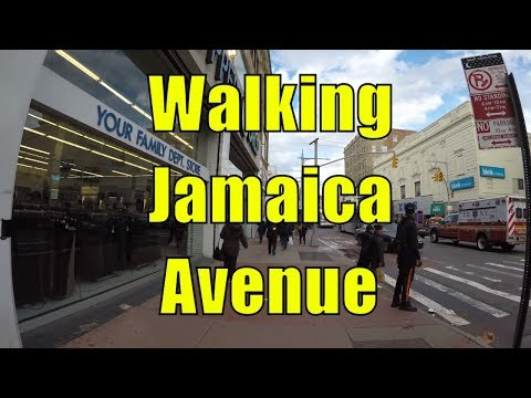 ⁴ᴷ Walking Tour of Jamaica, Queens, NYC - Jamaica Avenue from Van Wyck Expy to Merrick Boulevard