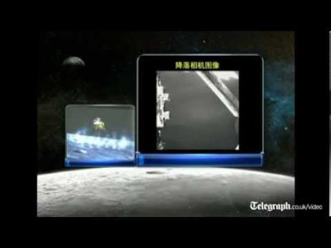 State TV in China broadcasts Moon landing