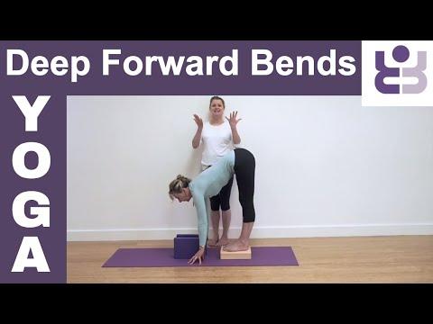 Deep Forward Bends - Uttanasana Yoga Tutorial. Standing Forward Bend. Iyengar Yoga for Beginners