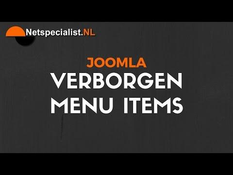 Joomla Verborgen Menu Items