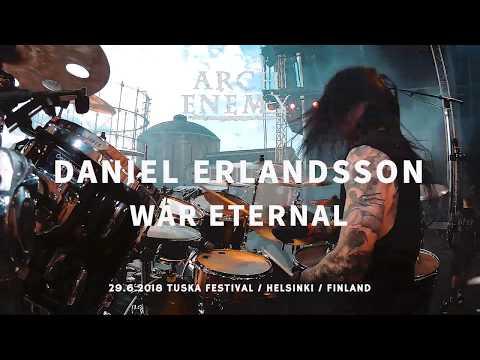 Arch Enemy Daniel Erlandsson Drumcam 'War Eternal' / Tuska Festival 2018