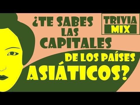 ¿Sabes las CAPITALES de los países de Asia? 🌎 - TRIVIA MIX - TEST TOP 10 Preguntas de Geografía