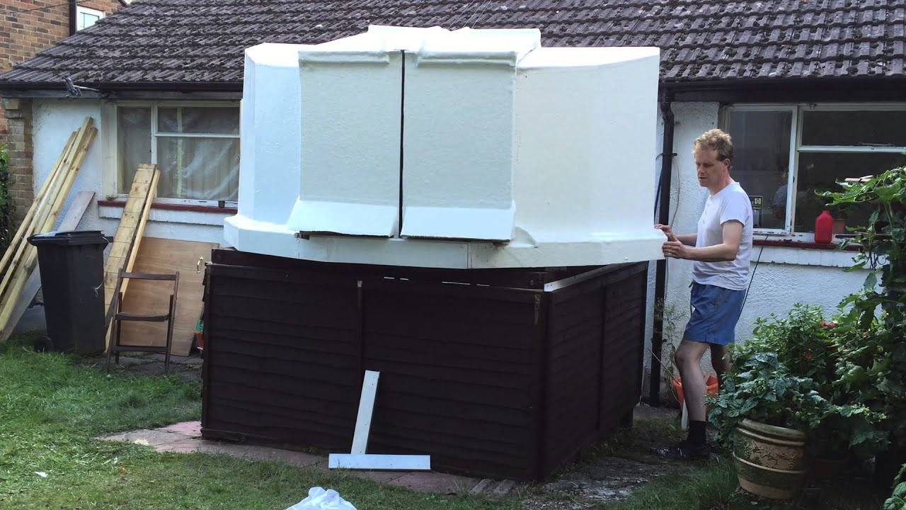 New Fibreglass Telescope Observatory Dome Mounted For The First Time    YouTube