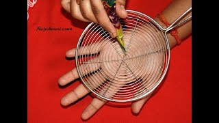 easy latest mehndi design for hands -  simple mehndi design with the help of kitchen utensile