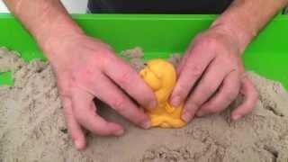 3D Sandfigur Löwe mit Kinetic Sand