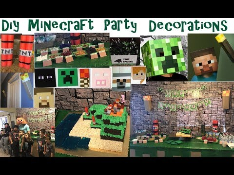 DIY Minecraft Birthday Ideas! Crafts~Party Favors~Photo Booth + More! Great Parent Ideas