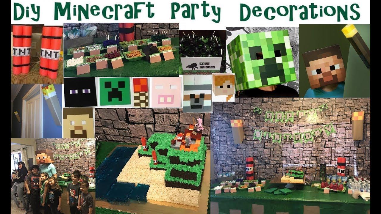 Minecraft Decoration Ideas For Birthday from i.ytimg.com