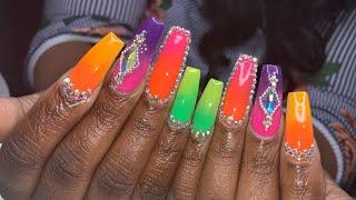 Acrylic Nails Tutorial | Mía Secret Color Acrylic | Ombre Acrylic Nails