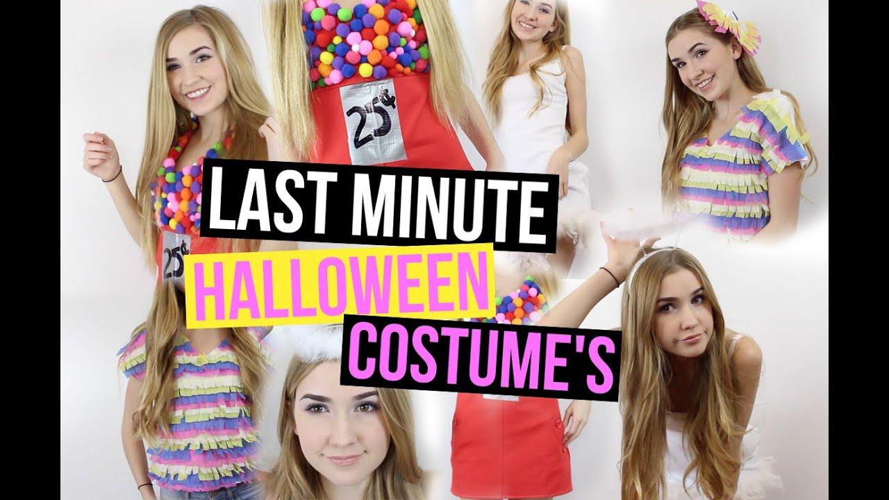 easy last minute diy halloween costumes youtube