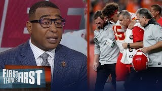 Patrick Mahomes will alter his game after this knee injury — Cris Carter | NFL | FIRST THINGS FIRST