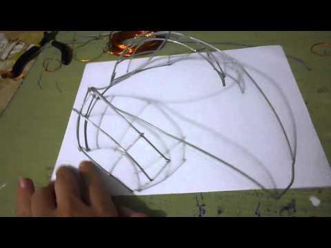 wireframe car model