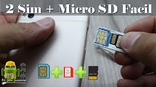 Dos Simcard Y Tarjeta SD Simultaneas En Tu Android no es FAKE!