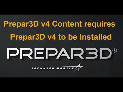 Prepar3D Error  Prepar3D v4 Content requires Prepar3D v4 to