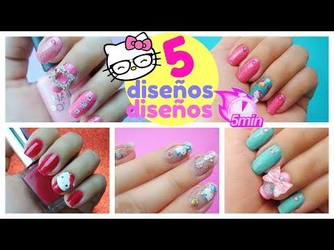 uñas-hello-kitty-5-diseÑos-fáciles