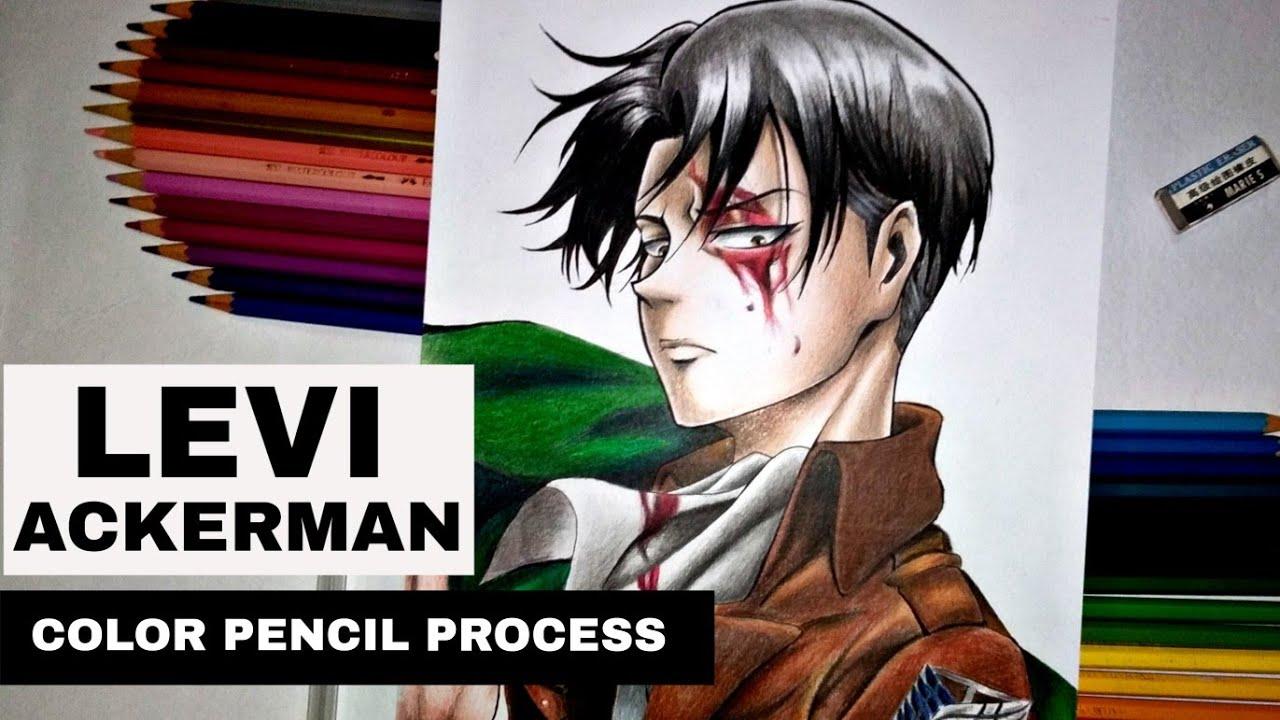 Drawing Levi Ackerman Attack On Titan Season 3 Color Pencil Artsy Jessie Youtube