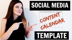 Content Calendar for Social Media Marketing