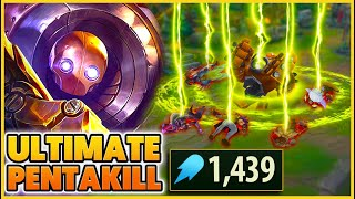 *INSANE PENTAKILL* 1,439 AP HOOKS GET ME AN EASY PENTAKILL (ONE ABILITY PER KILL) - BunnyFuFuu | LoL