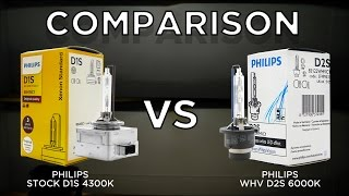 philips 4300k oem d2s hid vs philips white vision whv d2s hid bulbs hcx mini d2s projector