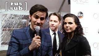 Colin O'Donoghue took over the interview with Sean Maguire and Lana Parrilla