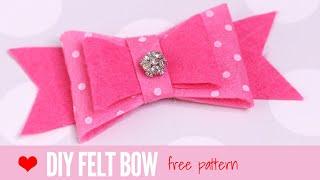 Felt Bow Template | DIY Hair Acessories | Felt Crafts | Making Bows