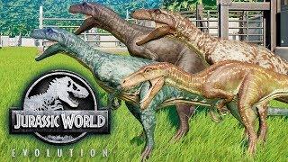 герреразавр Обзор и Битвы динозавров Jurassic World Evolution Herrerasaurus