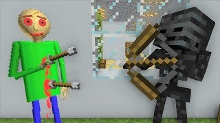 Monster School : BALDI Pranks HEROBRINE - Horror Minecraft Animation