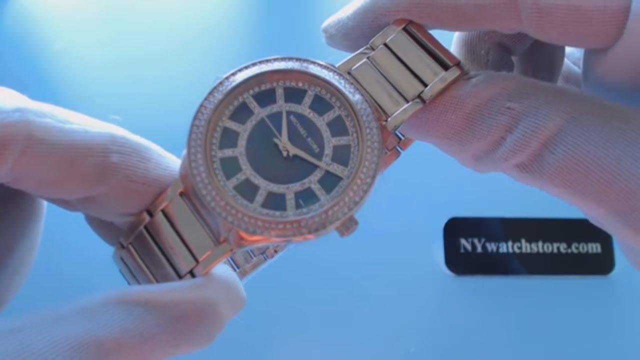 c5aa959efe5a Women s Rose Gold Michael Kors Kerry Glitz Steel Watch MK3397 - YouTube