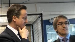 David Cameron makes a splash during Edinburgh University visit