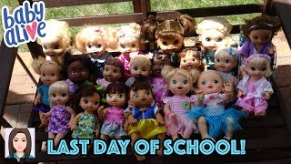 Baby Alive's Last Day Of School!