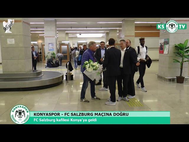 FC Salzburg kafilesi Konya'ya geldi
