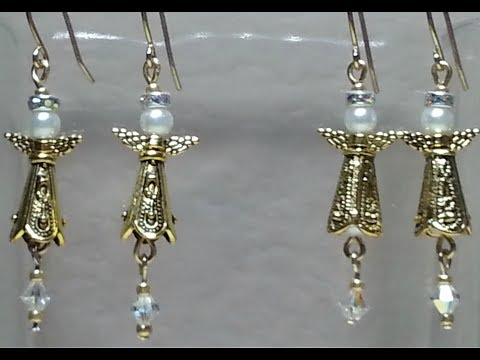 DIY~ Make Gorgeous And Ornate Tiny Bead Cap Angel Earrings!