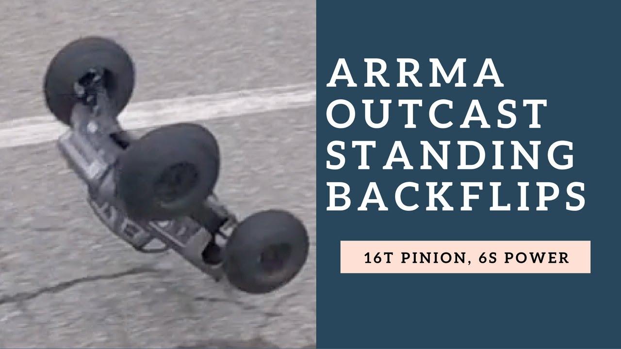 Arrma Outcast Standing Backflips Rc Stunt Car Backflips