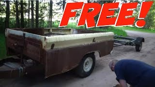 FREE TRAILERS ! (60s chevy box trailer and boat trailer)