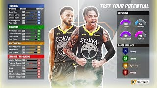STEPHEN CURRY x D'ANGELO RUSSELL BUILD! HOF BADGES ON SHOOTING AND PLAYMAKING! NBA 2K20 BEST BUILD!