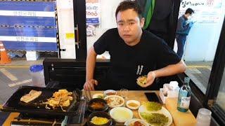 대박 혼술먹방 삼겹살+진로이즈백 소주한잔 소통방송 20…