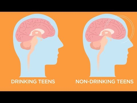 What does alcohol abuse do to a teenager's brain?