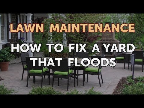 How to Fix a Yard That Floods - YouTube