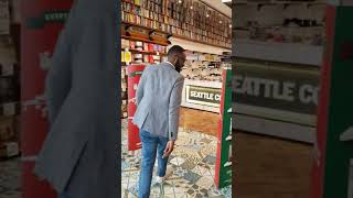 DJ Sbu book store visits to check on his new best seller #TheArtOfHustling