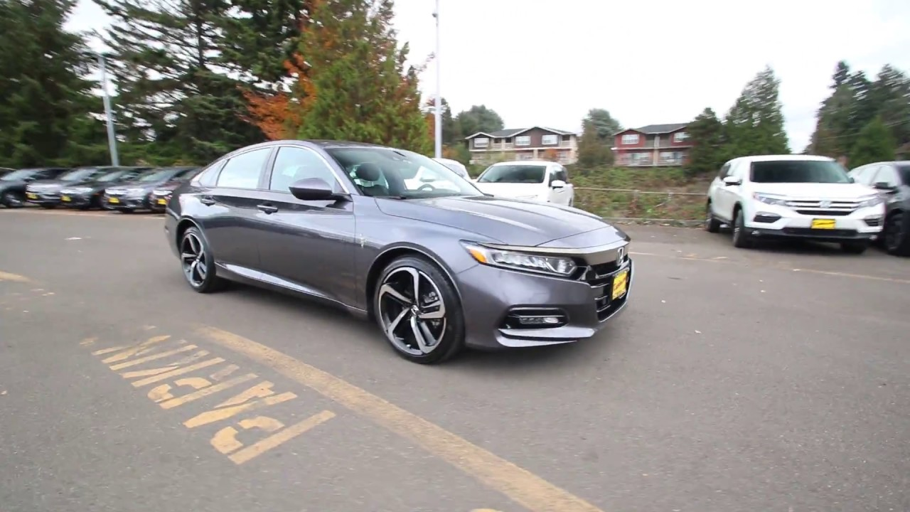 2018 Honda Accord Sport Modern Steel Metallic Ja011894
