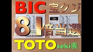 TOTO BIG一等当選確率を81倍に引き上げる方法!当たる宝クジ徹底攻略【seki表】