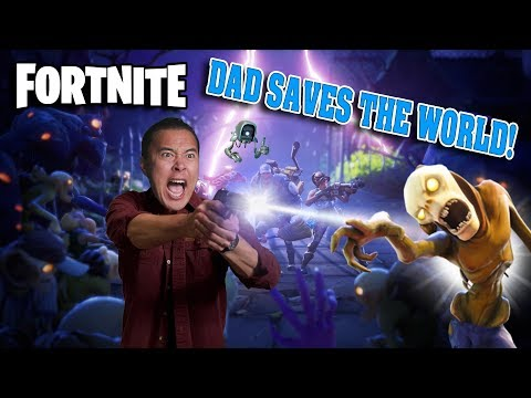 DAD SAVES THE WORLD!!! Fortnite Save the World Gameplay!