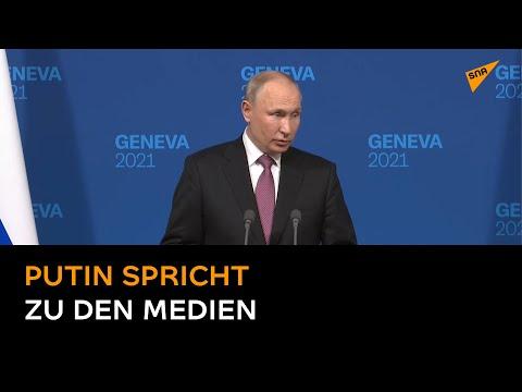 Putin spricht nach dem Russland-US-Gipfel zu den Medien