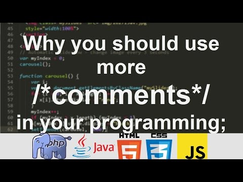 Why you should use more /*comments*/ in your programming; & Uses of /*Comments*/