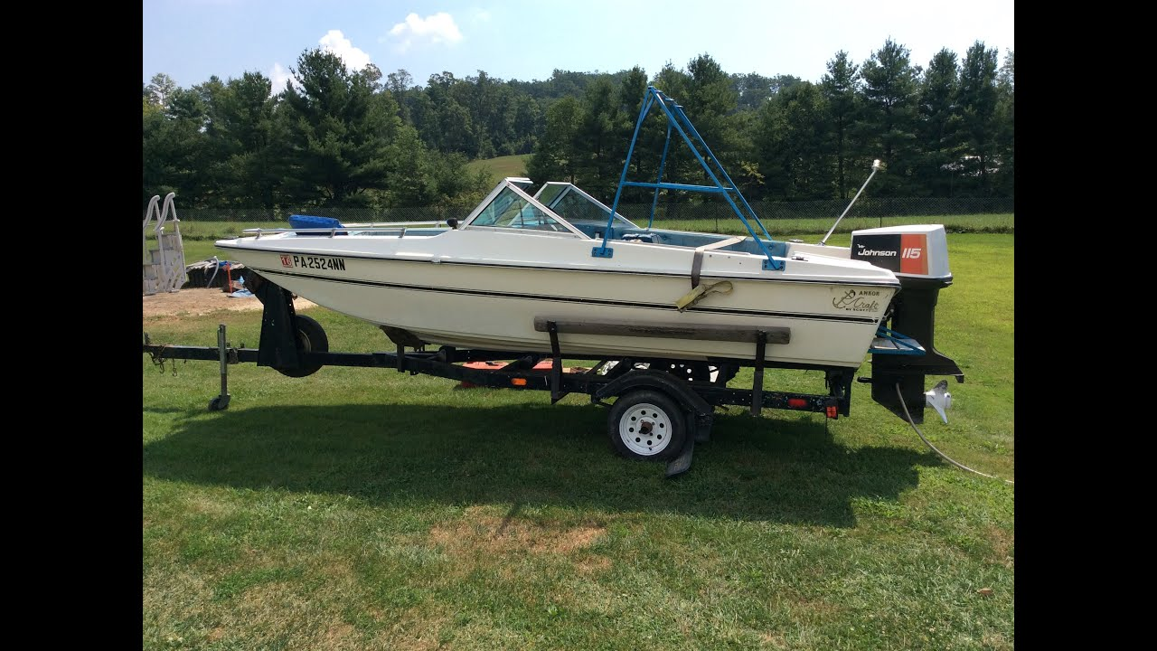 1977 Scott Tri-Hull 15 Foot Boat with Johnson Outboard ...
