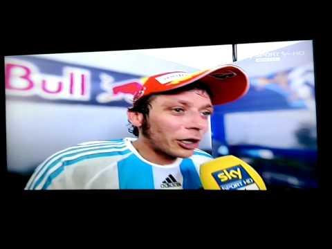 Rossi intervista dopo gara motoGP argentina 2015