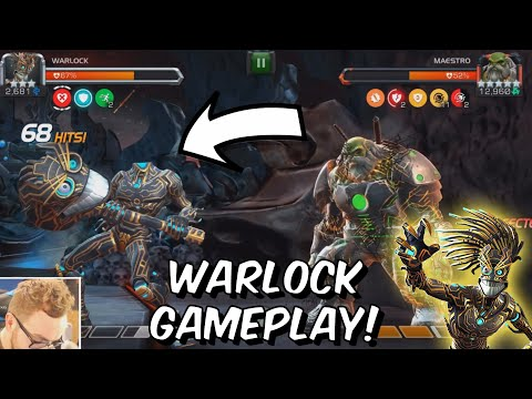 Warlock Rank Up & Gameplay! - Crazy Utility Tech! - Marvel Contest of Champions