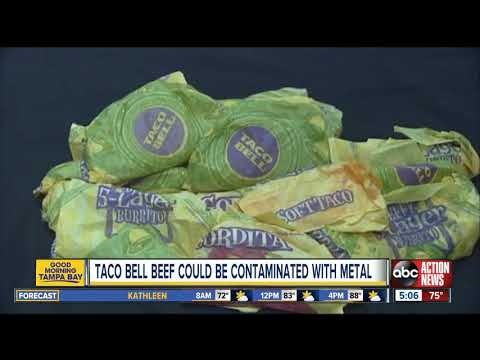 DJ DC - Taco Bell seasoned beef recalled over concerns of metal contamination!!