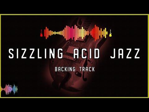 Sizzling Acid Jazz Funk Backing Track in F Dorian Blues